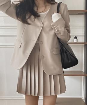 Dionne no-collar jacket