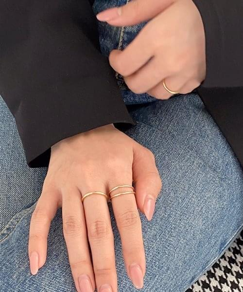 two line ring リング