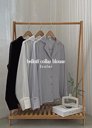 Velop collar-neck blouse