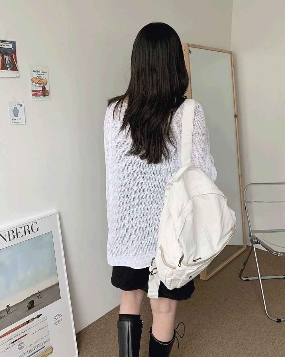 Ronron Vintage Faded Plain Backpack