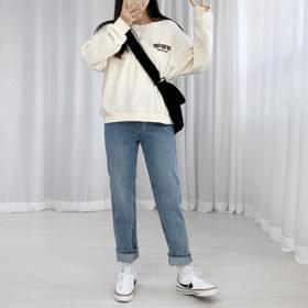 Waz denim straight-leg trousers