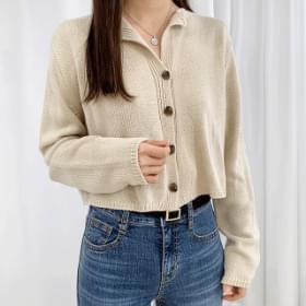 Mini Collar Knitwear Cardigan