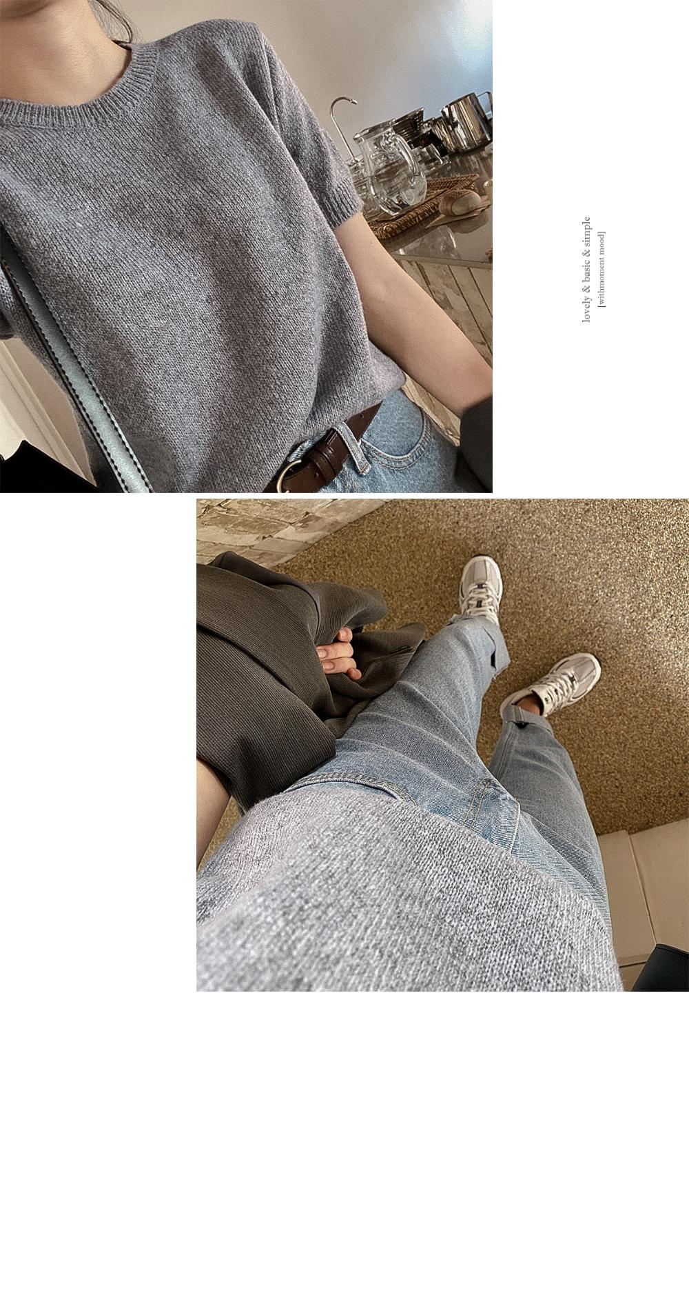 Diva Roll-Up Denim Pants-2color
