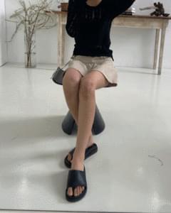 韓國空運 - Retro bold flip-flop slippers 涼鞋