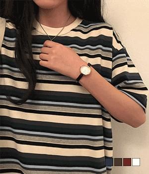 Creek Striped short-sleeved T-shirt