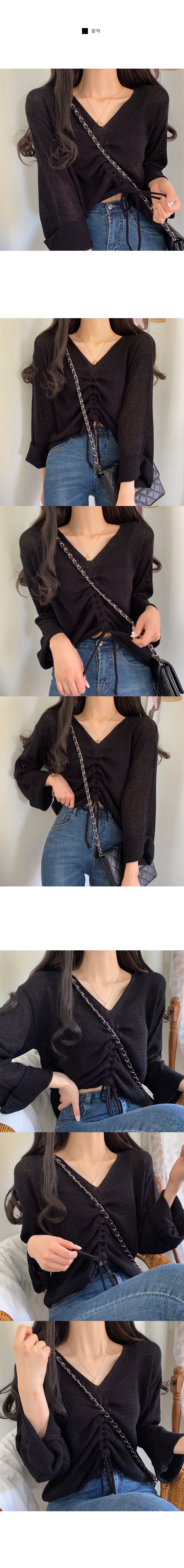 Soye Booklet Shirring Loose-fit Fit Knitwear