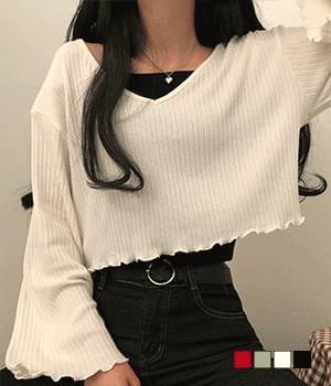 Lodi V Ruffle Knitwear