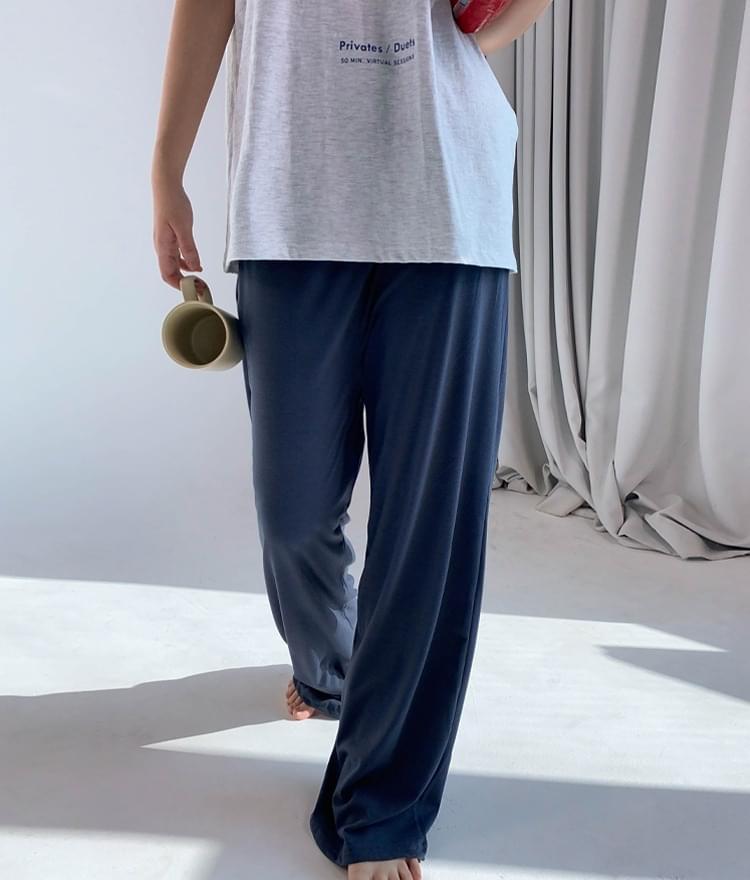 Single Tone Banded Waist Pants