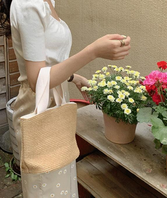韓國空運 - Garden Rattan Tote bag 托特包