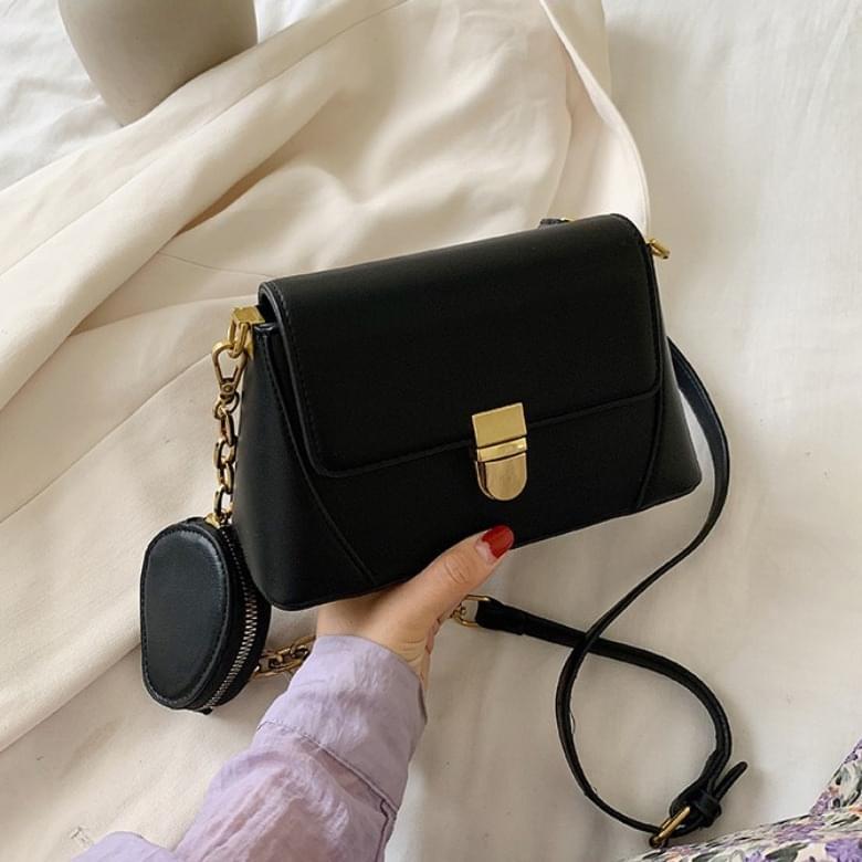 Mer Simple Chain Buckle Shoulder Bag