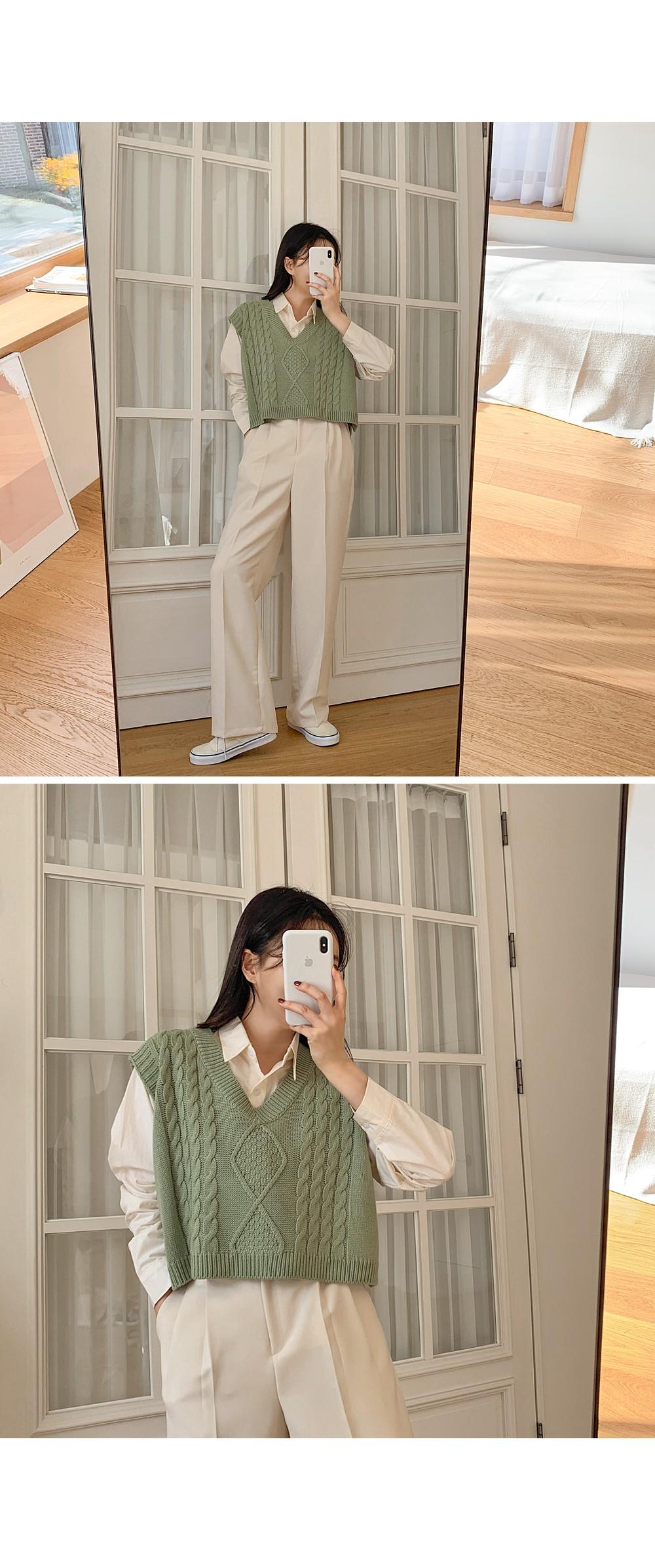 Crop Fisher Vest ♥ Pastel Color: D