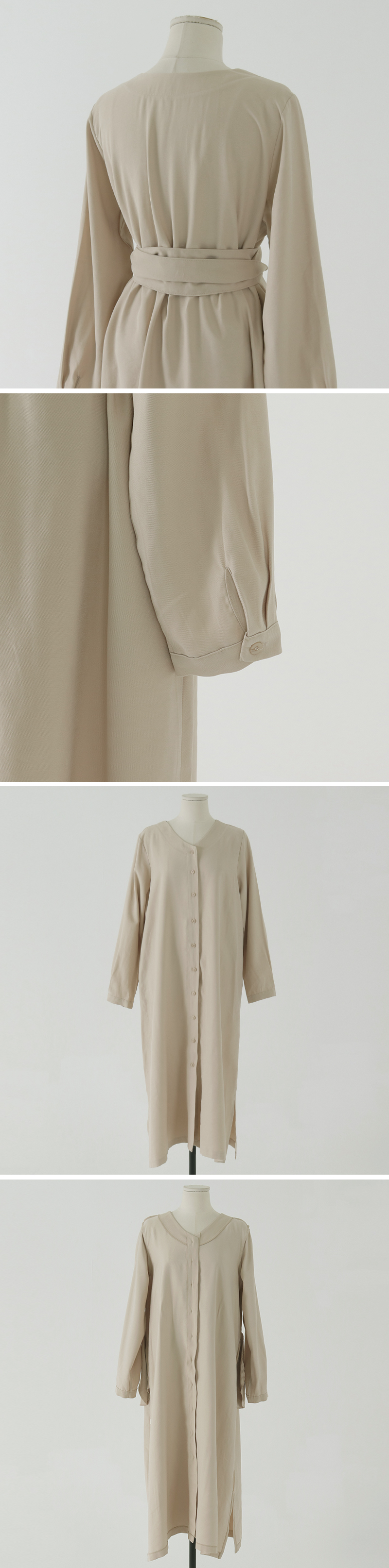 Bonnie V-Neck button long Dress