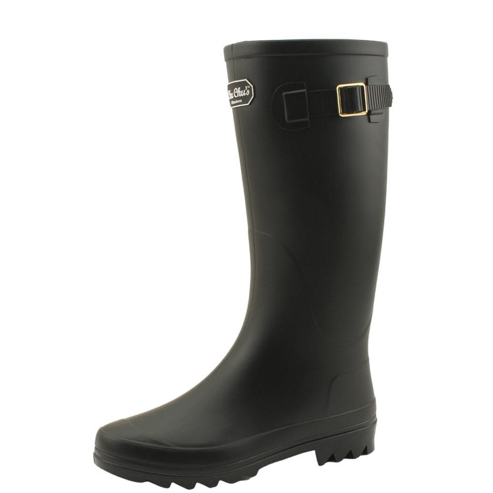 Long boots boots women rain boots black