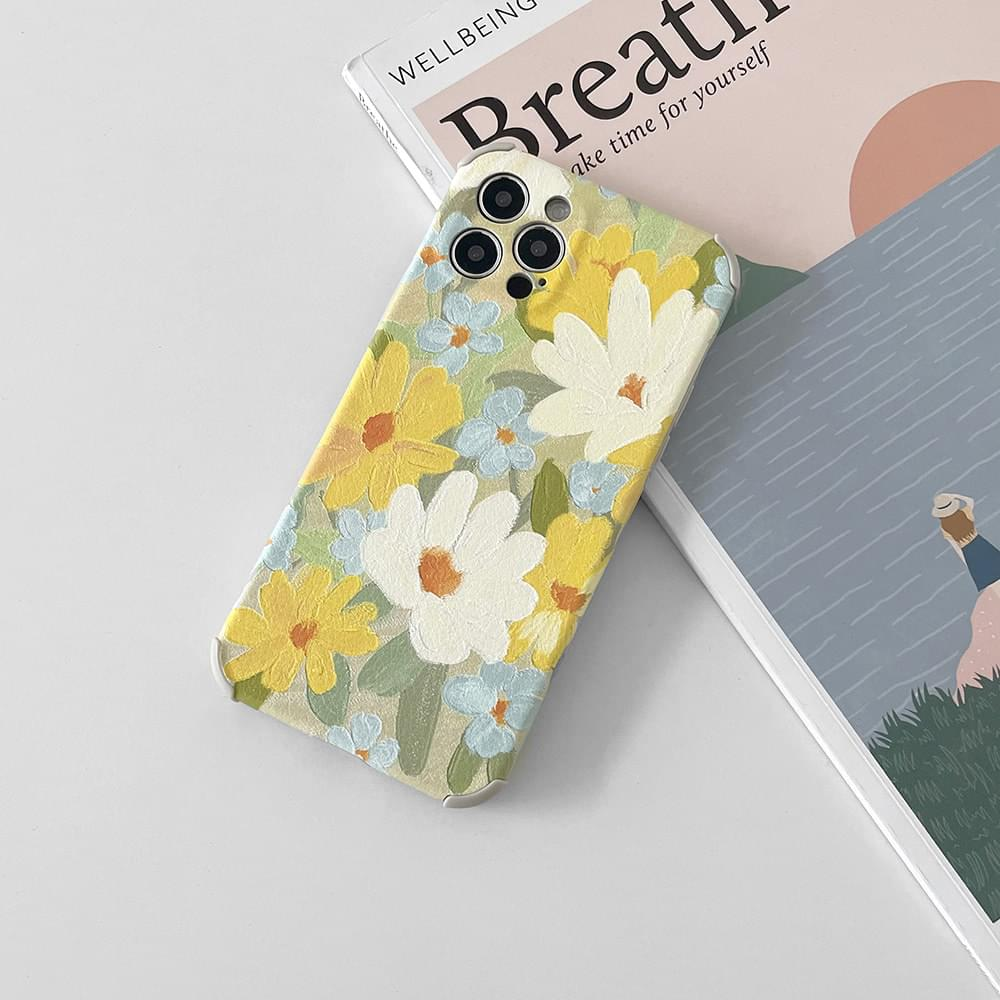 Yellow Spring Flower Full Cover iPhone Case