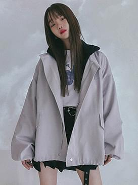 루즈핏 캐시 야상자켓