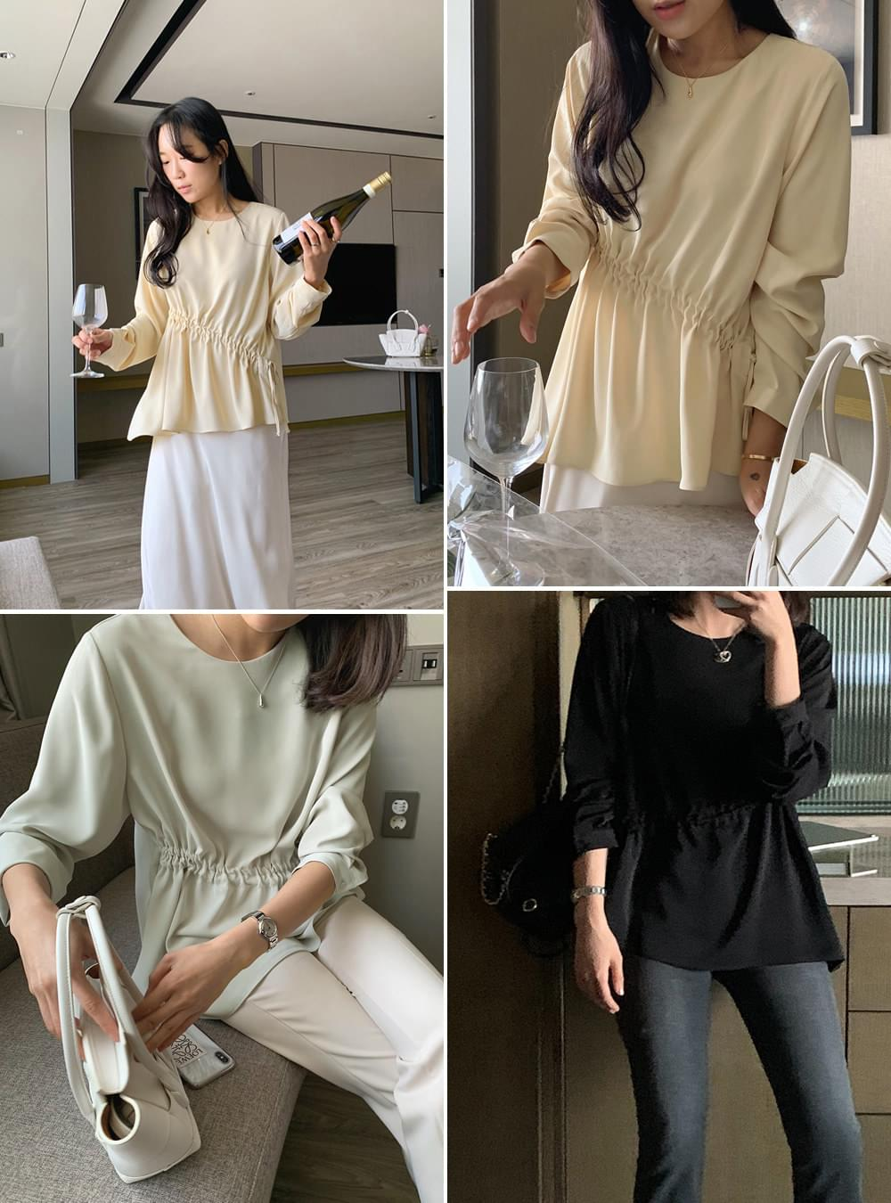 My-littleclassic/ Charni front shirred blouse