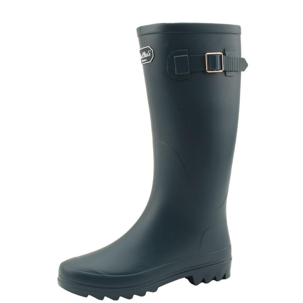 Long boots rain boots women rain boots blue