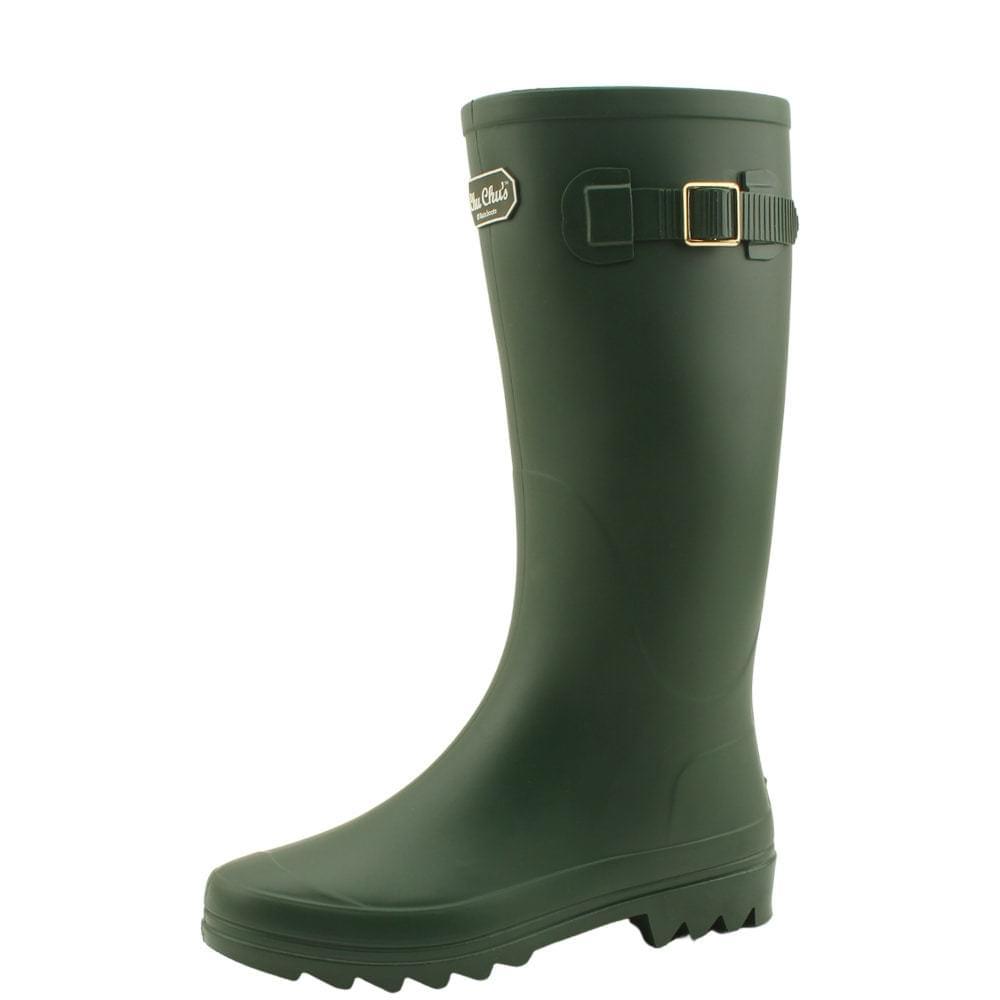Long boots rain boots women rain boots green