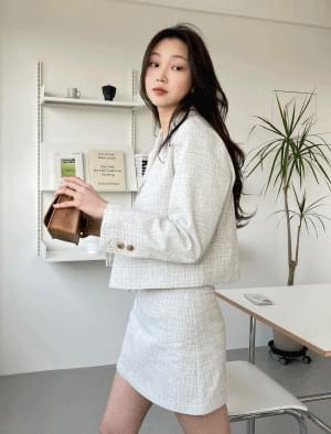 韓國空運 - Sophie semi-cropped tweed jacket 夾克外套
