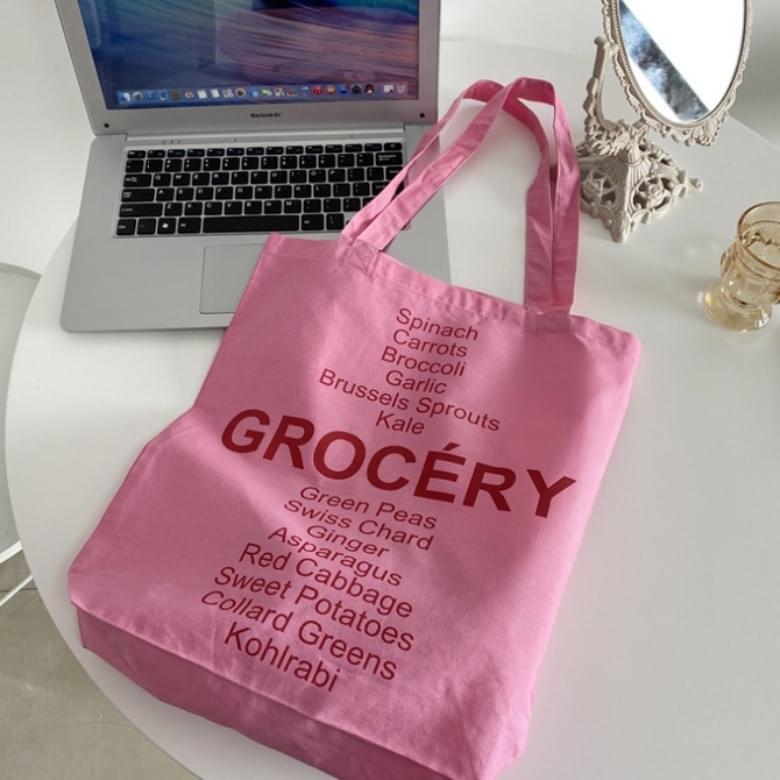 Sweetie Pink Lettering Eco Bag