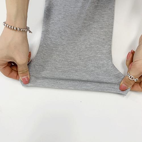 Modern split long T-shirt