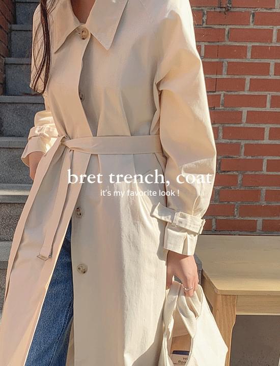 Brett single trench coat