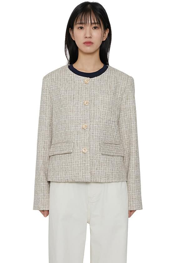 韓國空運 - Haron check tweed jacket 夾克外套