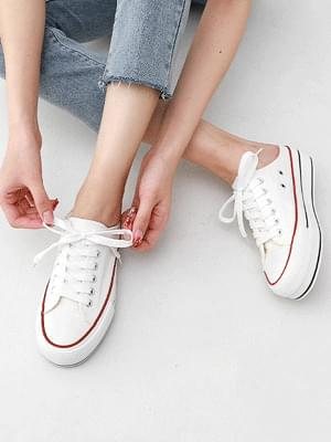 Isshu 2way Whole Heel Sneakers Mule Blower 10909 ♡Second Sold Out♡