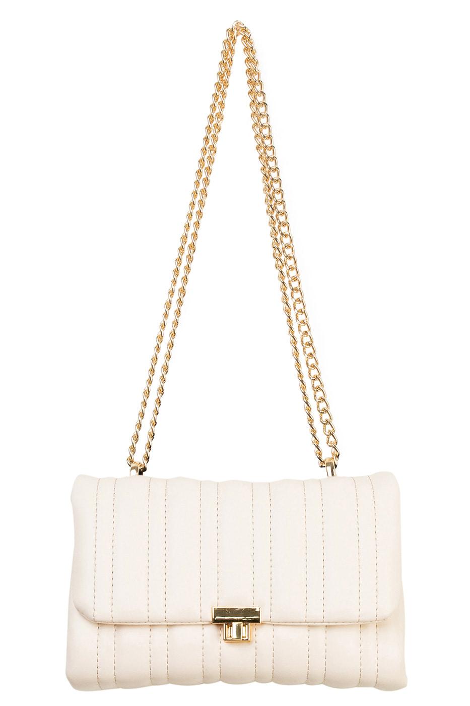Release square chain shoulder bag