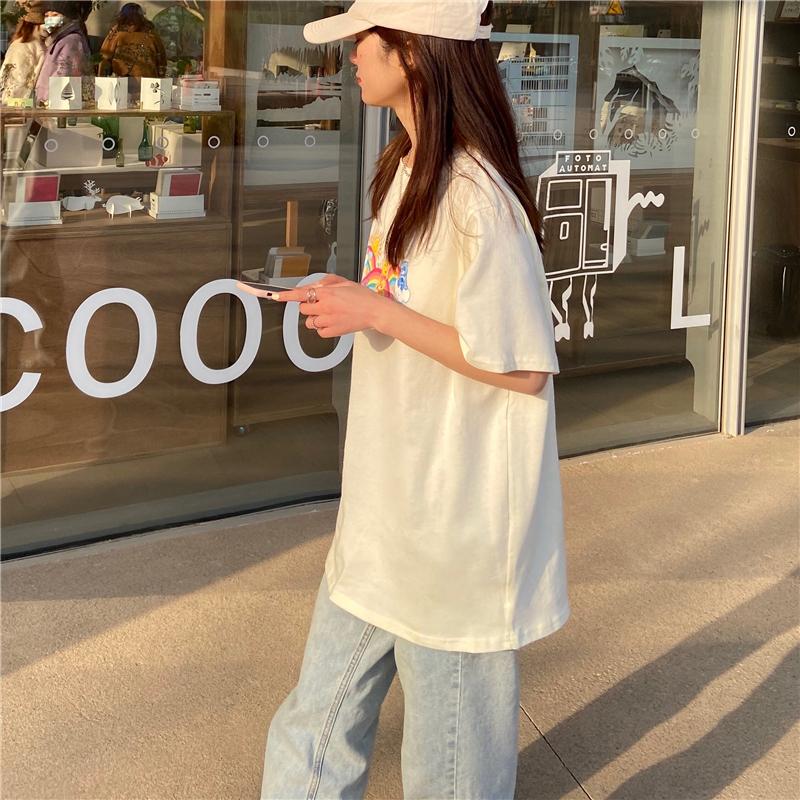 tt3761 K-bear round neck short sleeve T-shirt