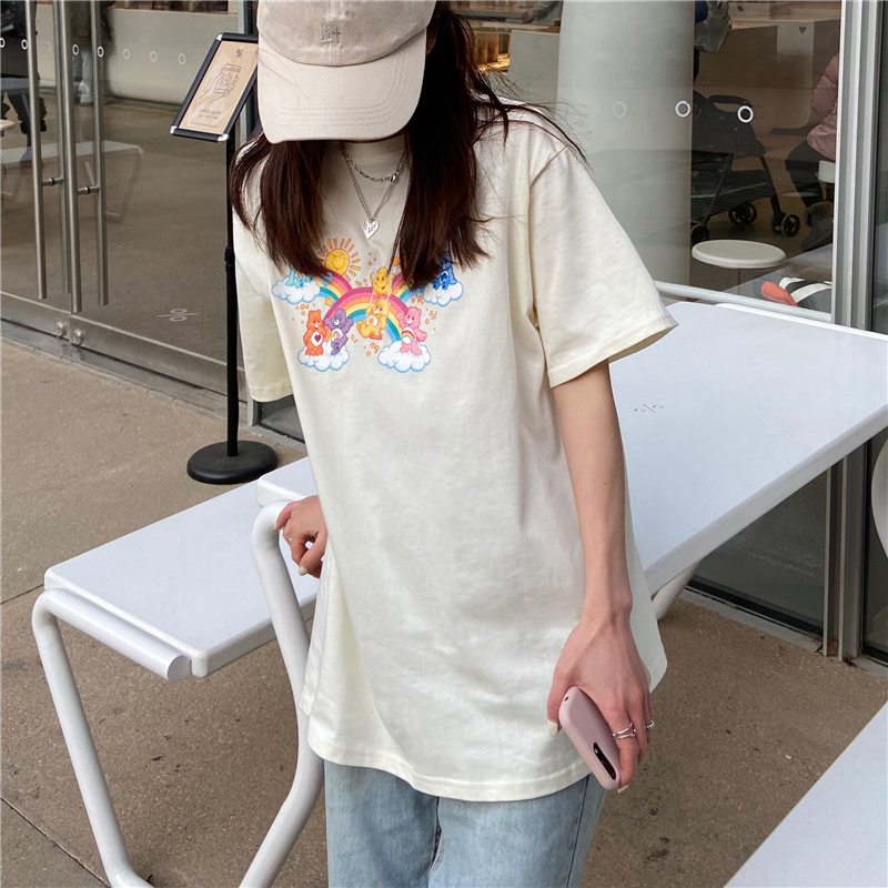 tt3761 K-bear round neck short sleeve T-shirt