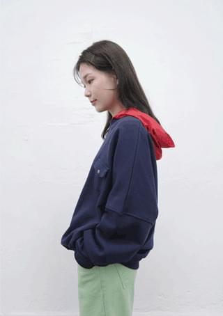 韓國空運 - mtm with hoody top 長袖上衣