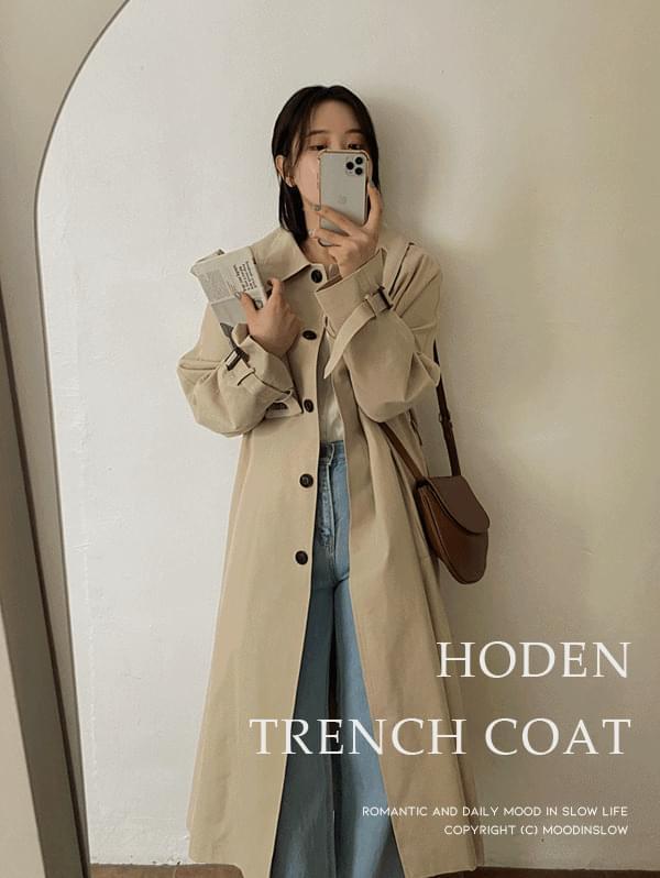 Hoden single trench coat
