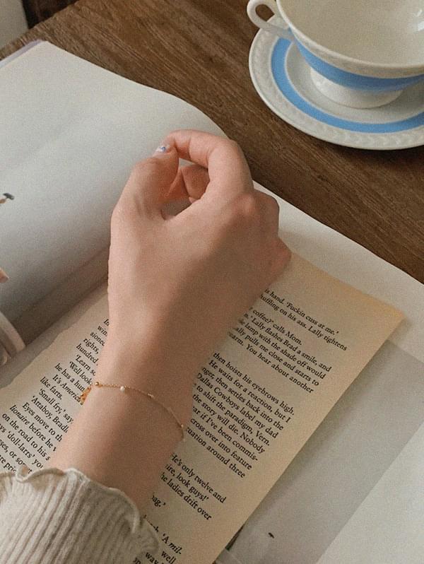 Mini pearl bracelet - gold 手鐲