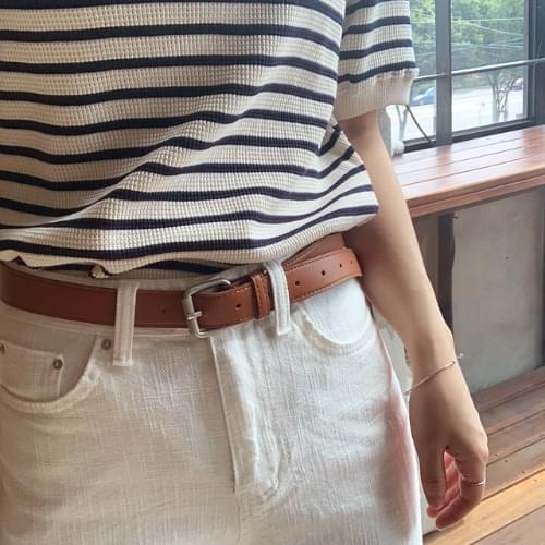 Bron silver leather belt 腰帶