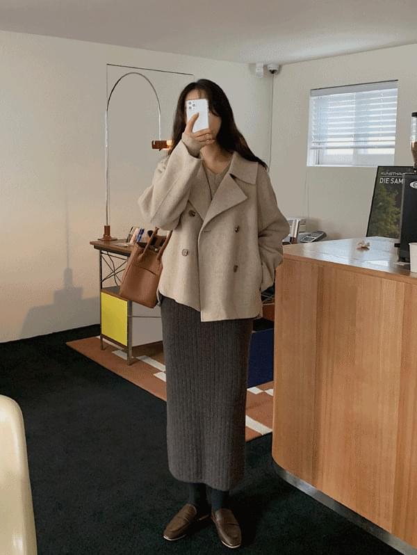 Double Handmade Half Coat-Wool 90%