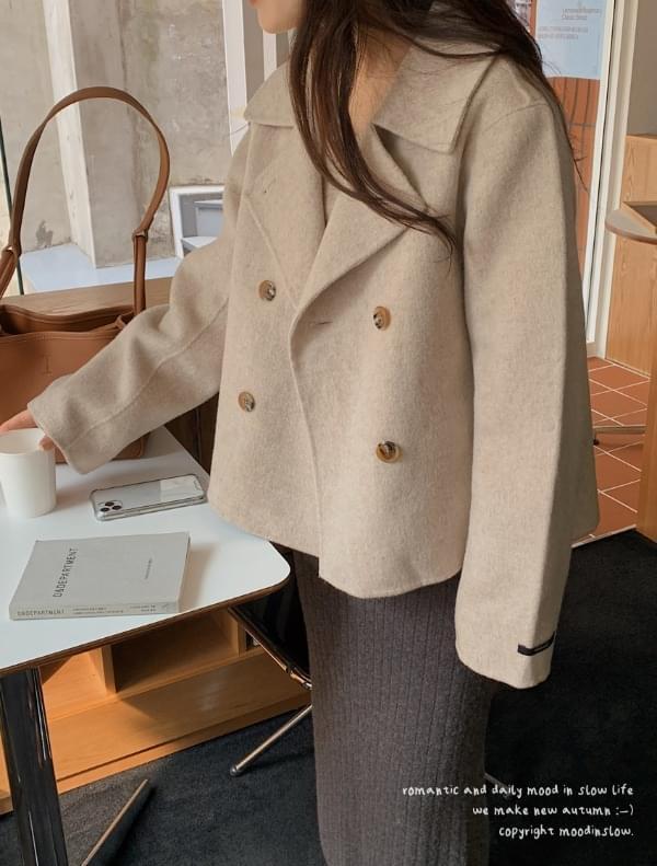 Double Handmade Half Coat-Wool 90% 大衣