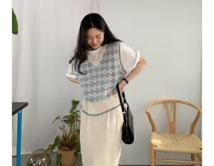Mini Argyle Knitwear Vest