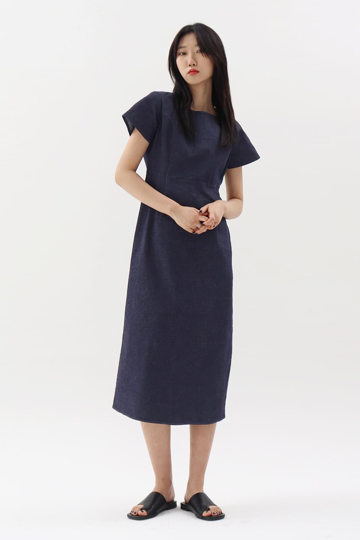 韓國空運 - Ondo denim Dress 及膝洋裝