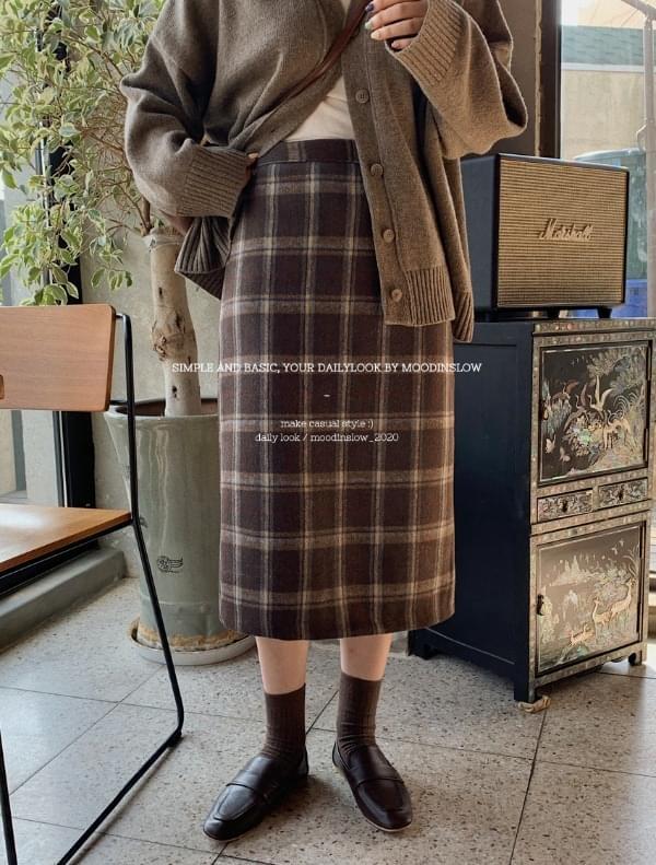 Koi winter check skirt 裙子