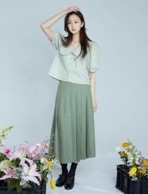 Hazel pleated long skirt