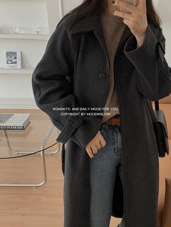 Howl Strap Wool Coat-wool 30%