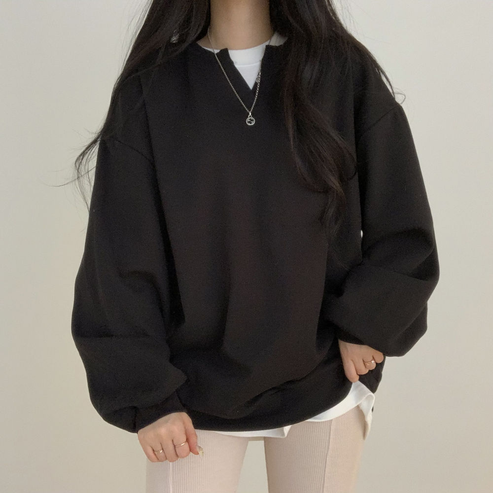 V-Tim plain Sweatshirt