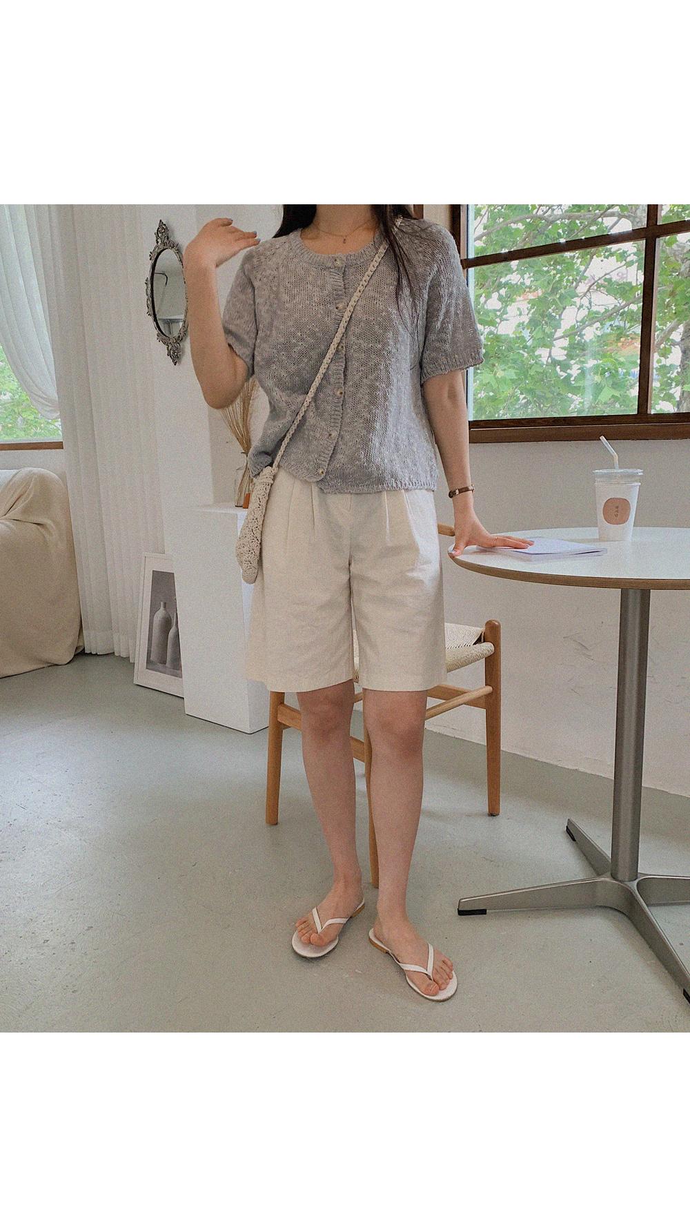 Shading half cardigan
