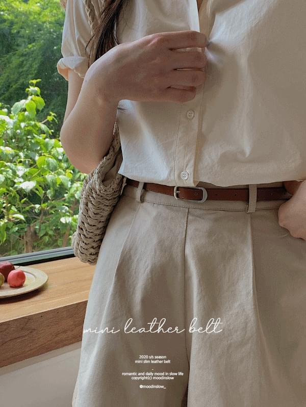 Mini slim leather belt