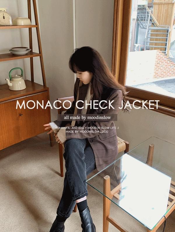 韓國空運 - Monaco check single jacket 夾克外套