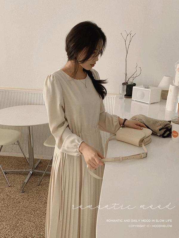 韓國空運 - All pleats long Dress 長洋裝