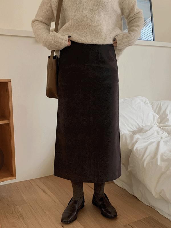 Rosty Golden Long Skirt
