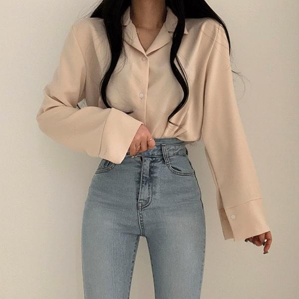 Charle-fitting blouse shirt