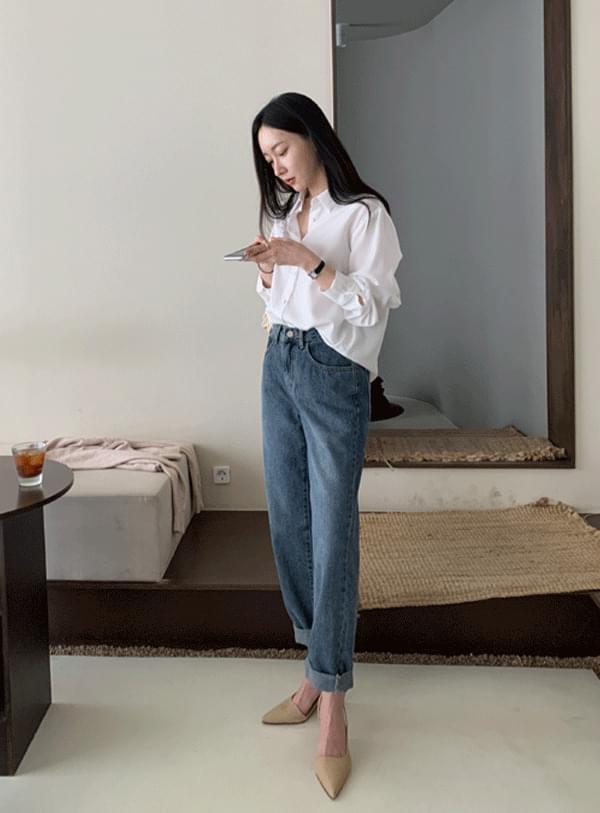 韓國空運 - Pics Blue pants 牛仔褲